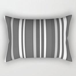 Grey Scale Lines Rectangular Pillow