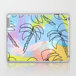 Live This Moment no.1 - illustration palm tree pattern summer tropical beach California pastel color Laptop & iPad Skin