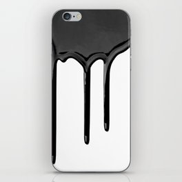 Black paint drip iPhone Skin