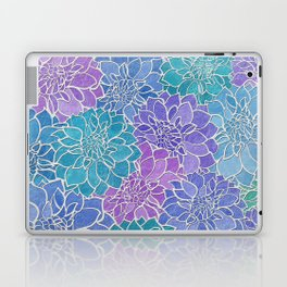 Dahlia Flower Pattern 6 Laptop & iPad Skin