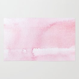 Pink watercolor // texture Rug