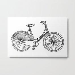 Vintage American Bicycle Diagram Metal Print