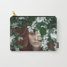 Meadow Girl (Floral Boho Art) #zala02creations #society6 Carry-All Pouch