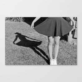 Silhouette of a lady Canvas Print