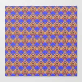 Tibetan Mandala Orbs Canvas Print