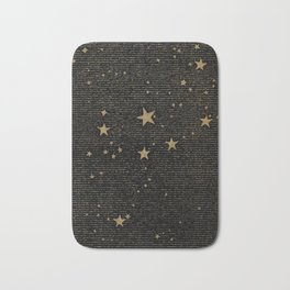 Paper Texture Stars Illustration from A high-school astronomy - Hiram Mattison - 1859 Bath Mat