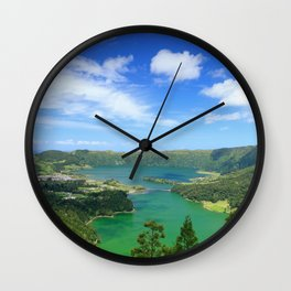 Lakes in Azores Wall Clock