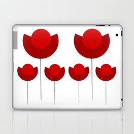 Simple red Tulips Laptop & iPad Skin