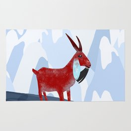 Mountain Goat Design Rug
