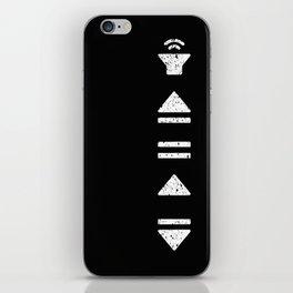 White Music Controls iPhone Skin