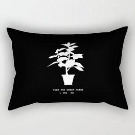 Green Herb Rectangular Pillow