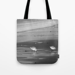 Pipers on the Pacific BW Tote Bag
