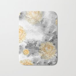 CHERRY BLOSSOMS AND YELLOW ROSES Bath Mat