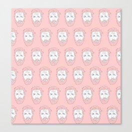 Pink yet still Hardy Canvas Print