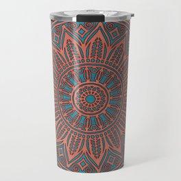 Wooden-Style Mandala Travel Mug