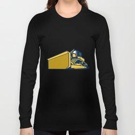 Bulldozer Low Angle Retro Long Sleeve T-shirt