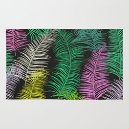 Palm Leaves Dark Rug