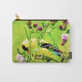 Goldfinch Yellow Bird Purple Flowers A101 Carry-All Pouch