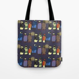 Victorian Penguins Tote Bag