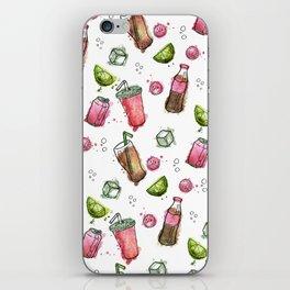 Cola Bottles Pattern iPhone Skin