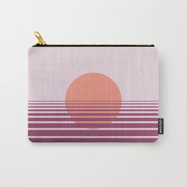 Pink sunset print - Girls Gang Prints Carry-All Pouch