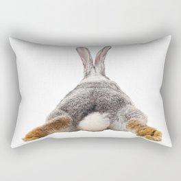 Cute Bunny Rabbit Tail Butt Image Easter Animal Rectangular Pillow