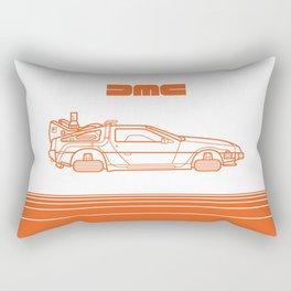 Back To The Future - Delorean - Stroke Rectangular Pillow