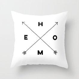 Modern Home Arrow Print Throw Pillow