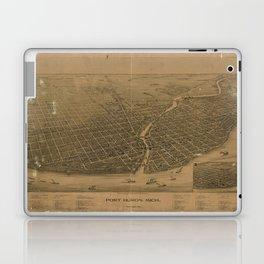 Aerial View of Port Huron, Michigan (1894) Laptop & iPad Skin