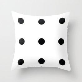 Nine Black Circles Throw Pillow