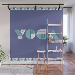 Yoga - typography pattern Wall Mural