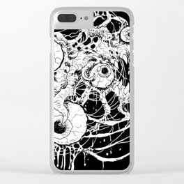 Eyeball Horror Clear iPhone Case