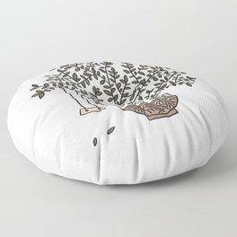 Potted Backyard Floor Pillow