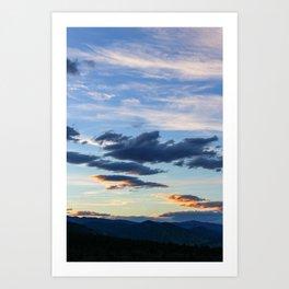 Mountain Sunset III Art Print