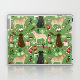 Labrador retrievers christmas festive holiday gifts for dog lover in your life dog breeds custom art Laptop & iPad Skin