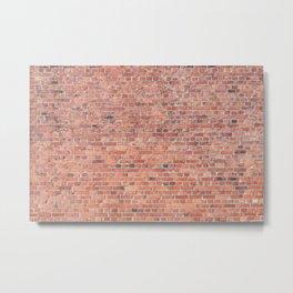 Plain Old Orange Red London Brick Wall Metal Print