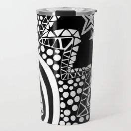 Soul Of The Dream Desert - Star Gazer (Black and White Edition) Travel Mug