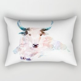 Pink bull / Abstract animal portrait. Rectangular Pillow