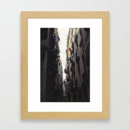 Clotheslines Framed Art Print
