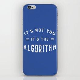 Blame the Social Media Algorithm iPhone Skin