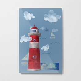 L for Lighthouse Metal Print
