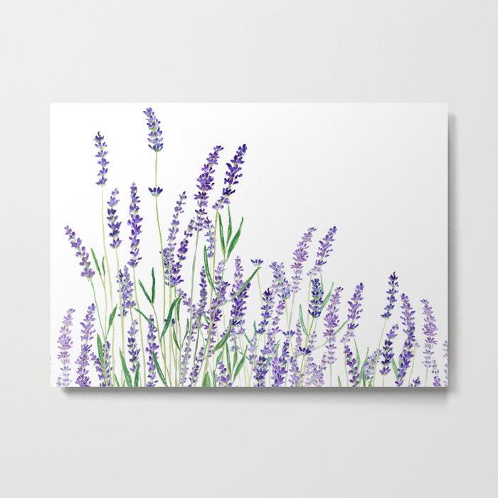 lavender watercolor horizontal Metal Print