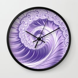 Ultra Violet Luxe Spiral Pattern   Trendy Color of the Year 2018 Wall Clock