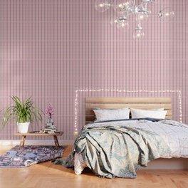 Brigitte B - Stripes yellow on pink background Wallpaper
