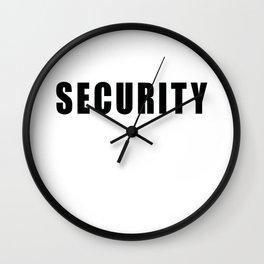 SECURITY TEE SHIRT inverse edition Wall Clock