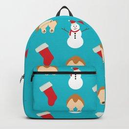 Christmas Corgi Butts Backpack