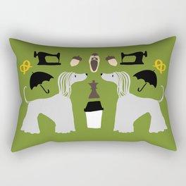 Hound dog, umbrella, sewing machine and chess Rectangular Pillow