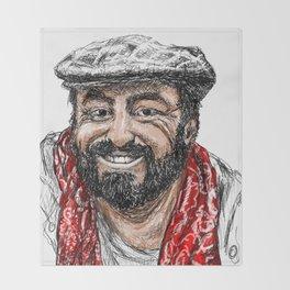 Luciano Pavarotti Throw Blanket