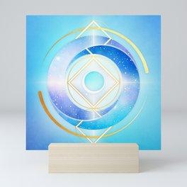 Icy Golden Winter Swirl :: Floating Geometry Mini Art Print