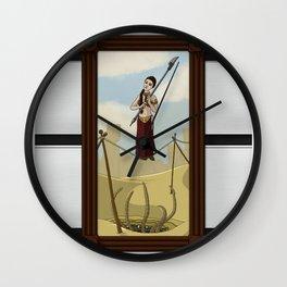 Princess Leia on the Wire Wall Clock